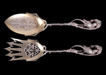 120001: A Fine American Sterling Silver Salad Set, Realized $2,500