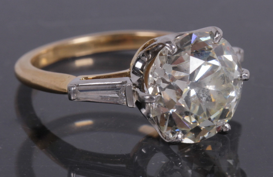 1214004: A Four Carat Diamond Engagement Ring, Realized $17,500