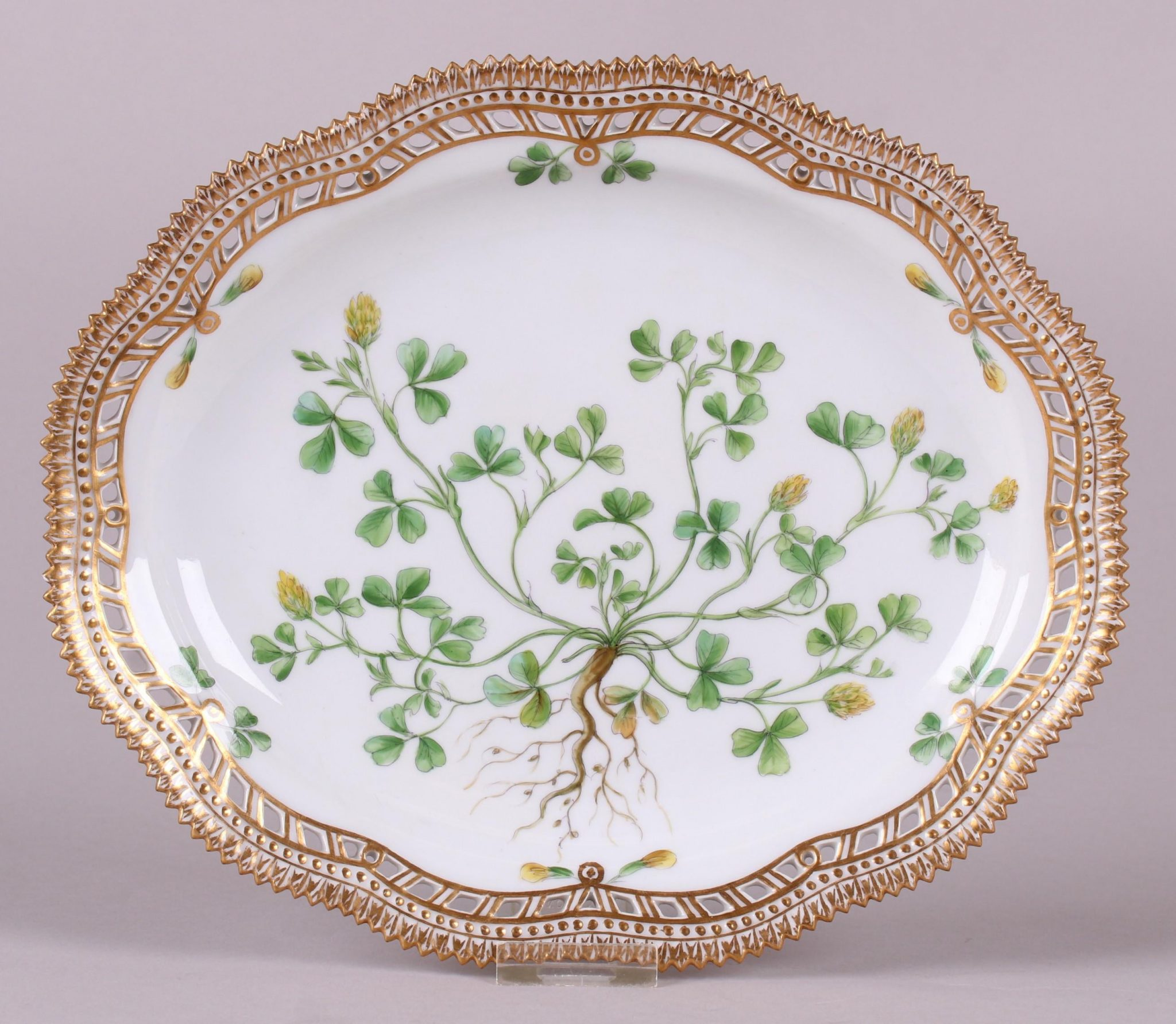320002: A Royal Copenhagen Flora Danica Platter, Realized $500